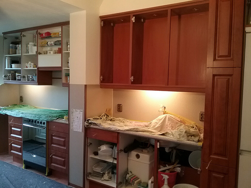 Keuken schilderen - werkwijze - Schildersbedrijf vriedok